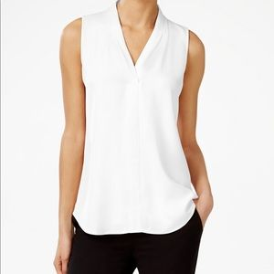 Calvin Klein Pleated V-Neck